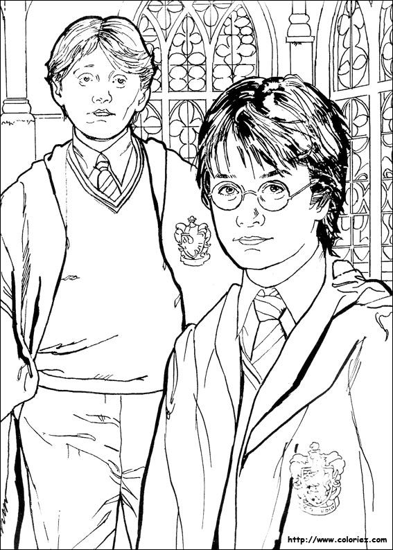 Simple free Harry Potter coloring page to print and color