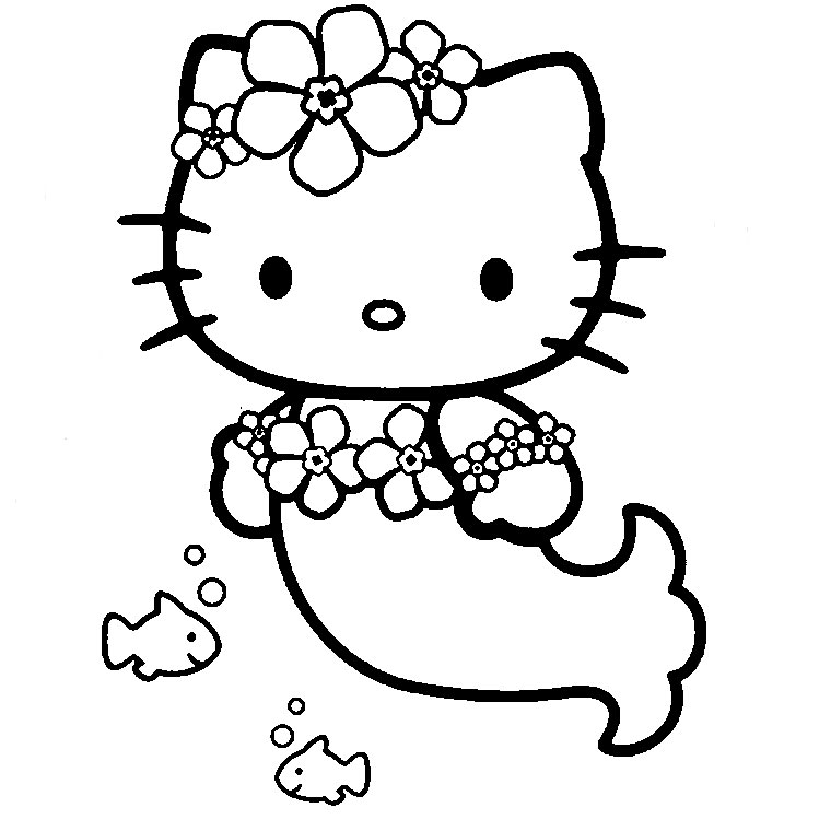 Beautiful Hello Kitty coloring page