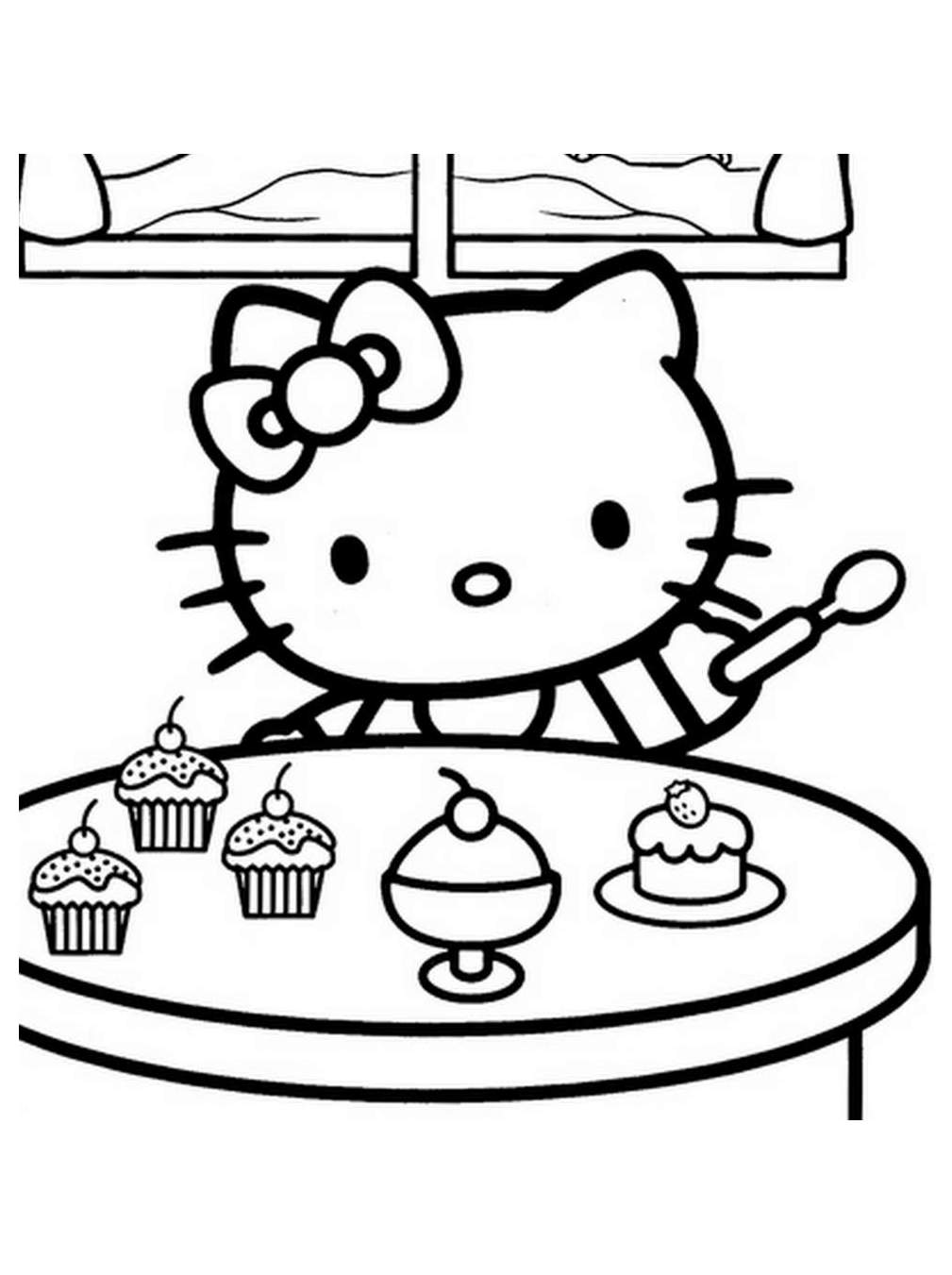 It's just a photo of Amazing Hello Kitty Coloring Images