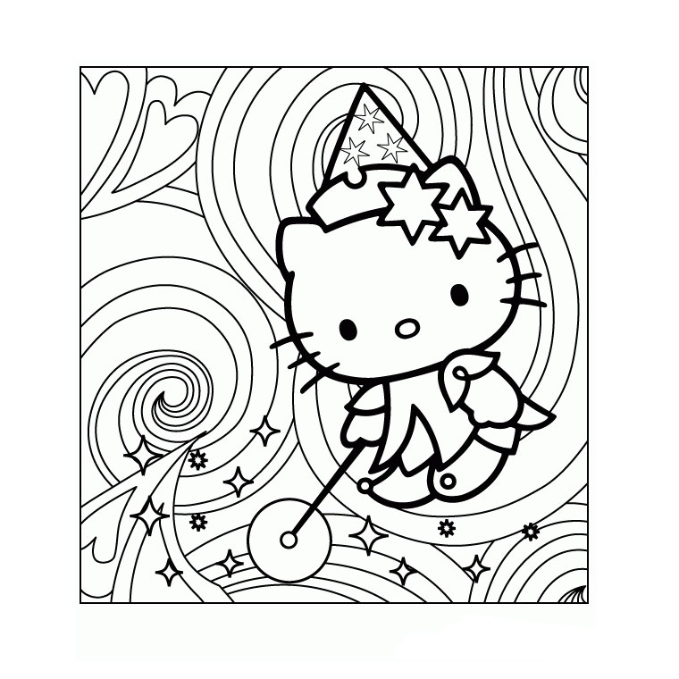 Incredible Hello Kitty coloring page to print and color for free