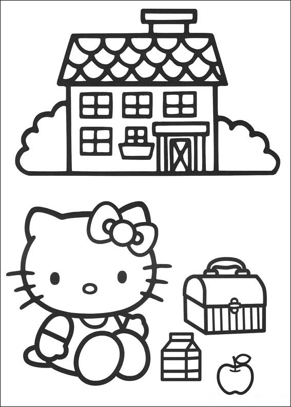 Free Hello Kitty coloring page to print and color