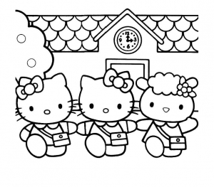 Coloring page hello kitty to print