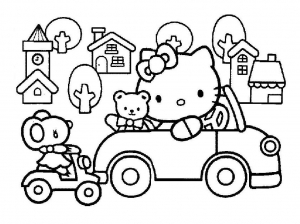 Coloring page hello kitty to print for free