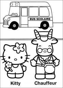 Coloring page hello kitty free to color for kids