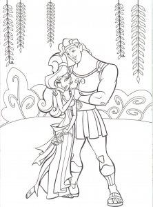 Coloring page hercules free to color for kids