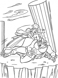 Coloring page hercules to print