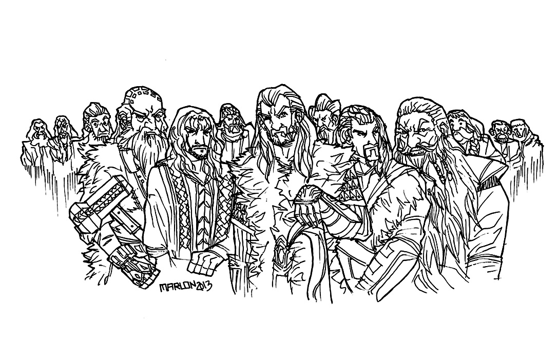 Hobbit coloring page to print and color for free