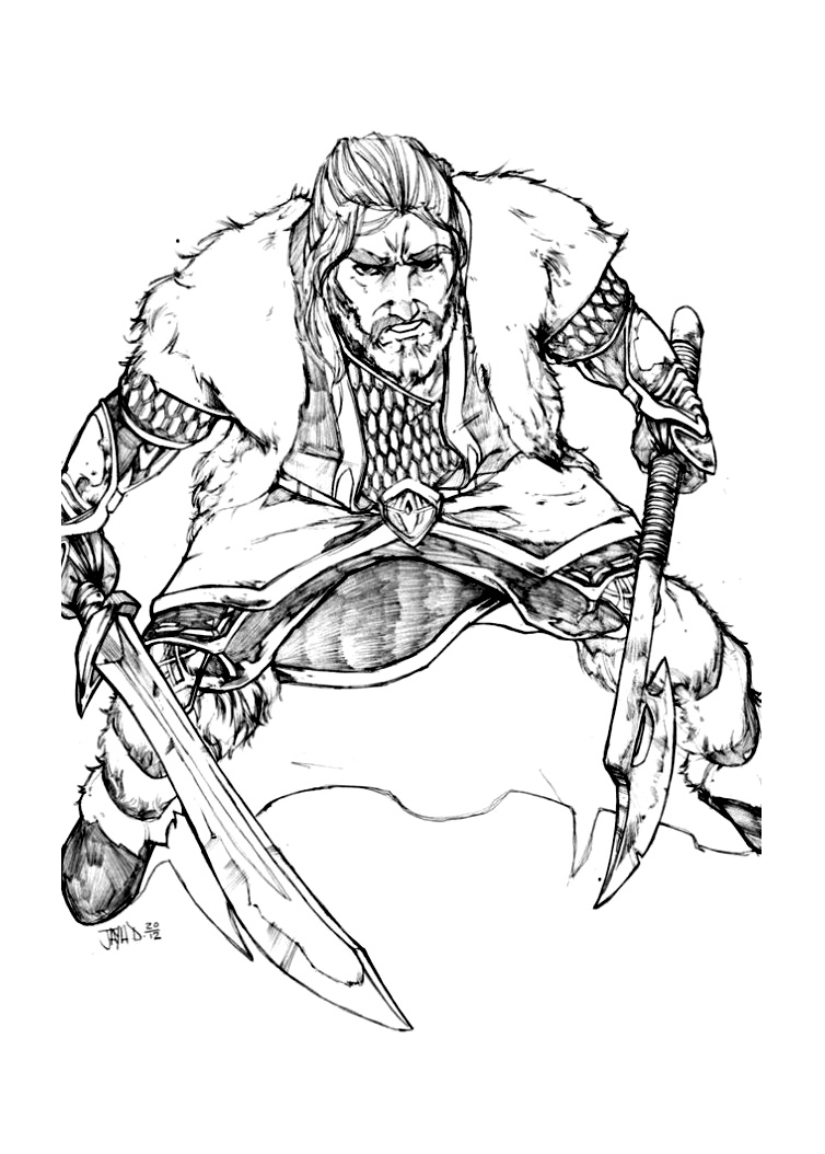 Funny Hobbit coloring page for kids