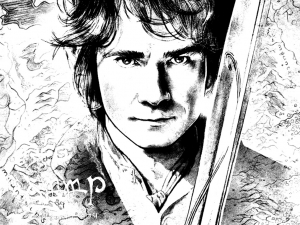 Coloring page hobbit for children
