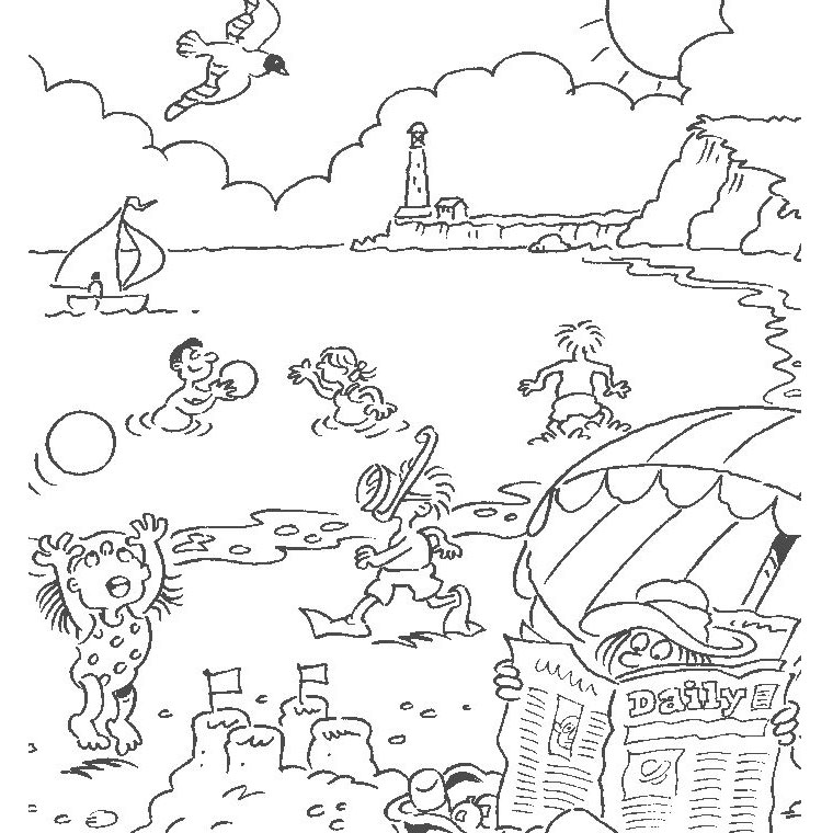 Printable Holidays coloring page to print and color