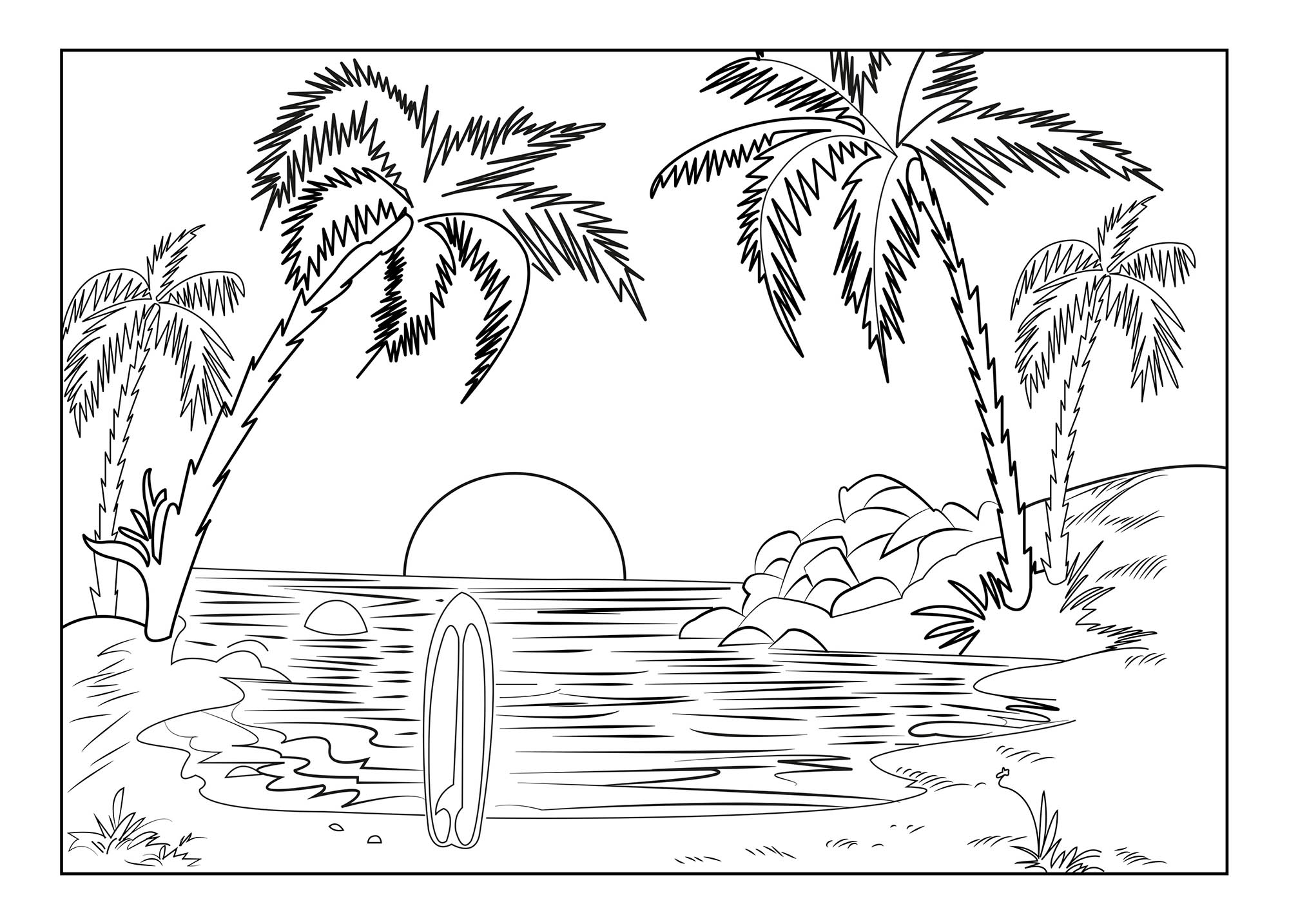Free Holidays coloring page to print and color