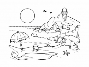 Coloring page holidays free to color for children