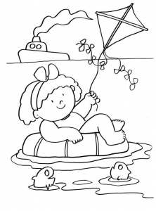 Coloring page holidays to download for free