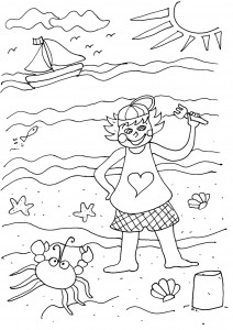 Coloring page holidays to color for kids