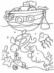 Coloring page holidays to print