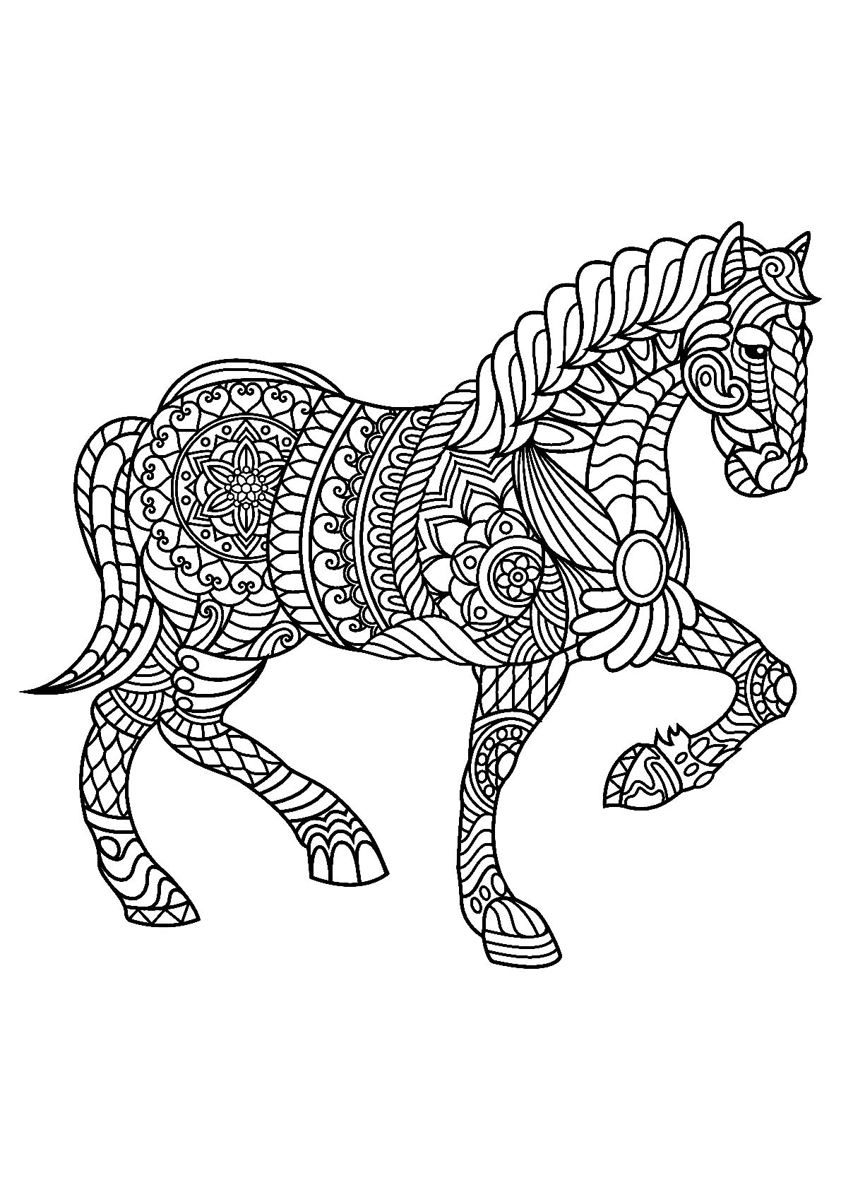 Horses Free To Color For Children Horses Kids Coloring Pages