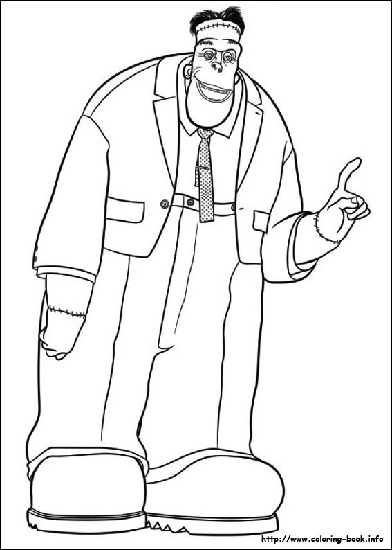 Simple Hotel Transylvania Coloring Page To Print And Color For Free
