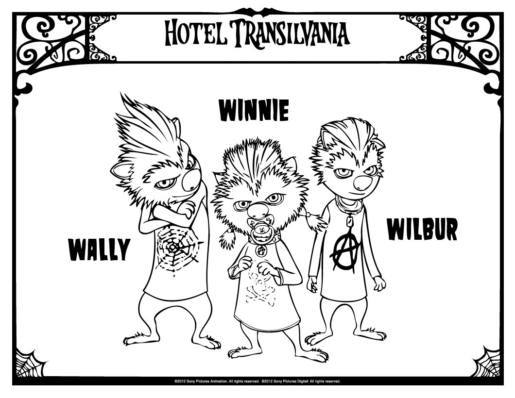 Printable Hotel Transylvania coloring page to print and color for free