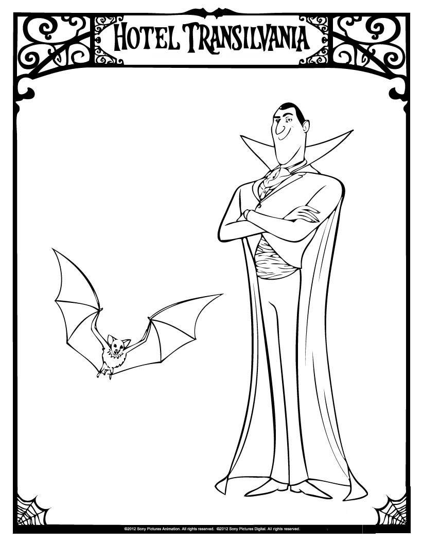 Cute free Hotel Transylvania coloring page to download