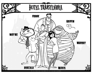 Coloring page hotel transylvania to print for free