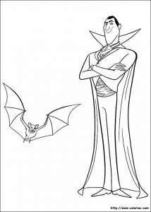 Coloring page hotel transylvania to download for free