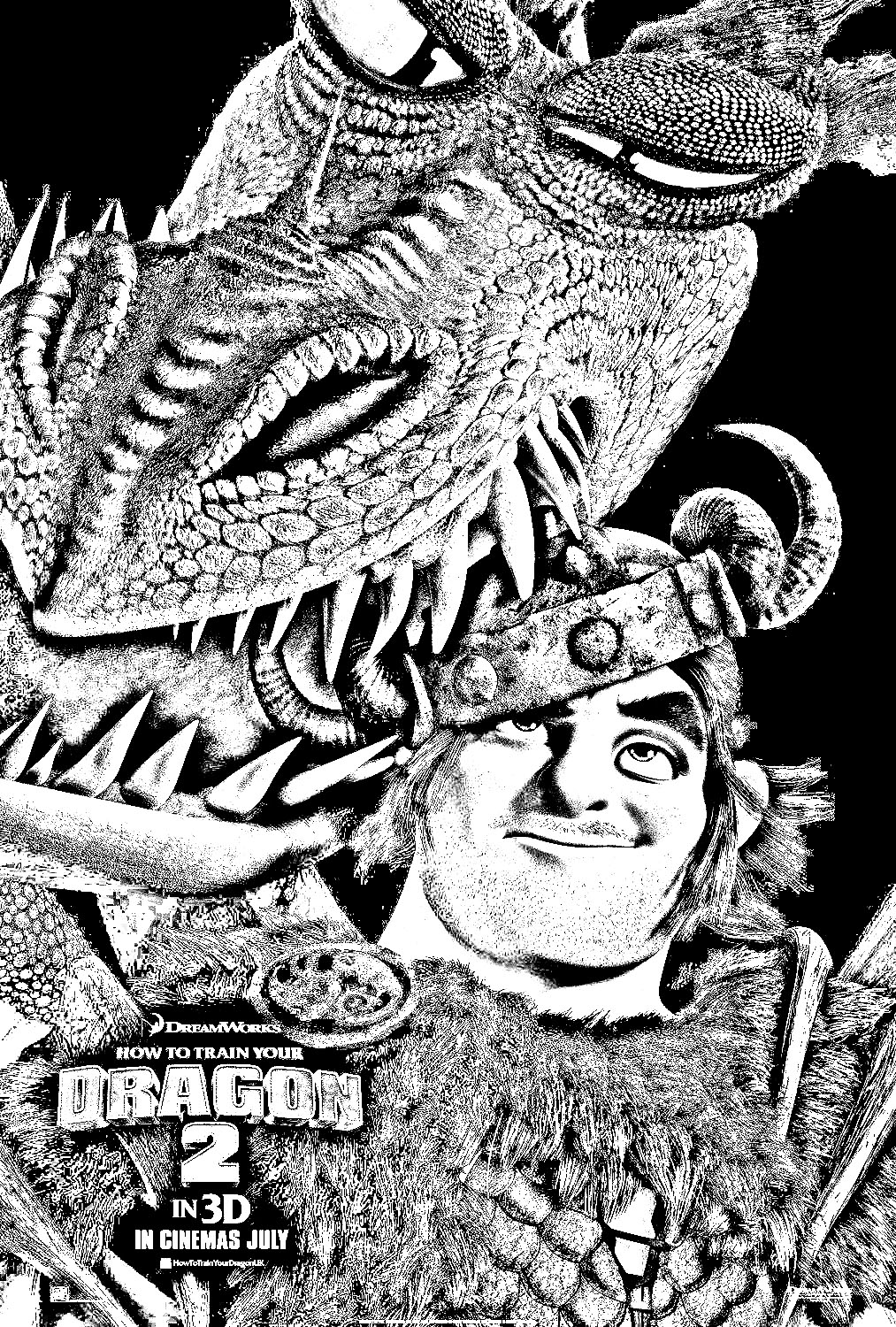 Funny How to Train Your Dragon 2 coloring page