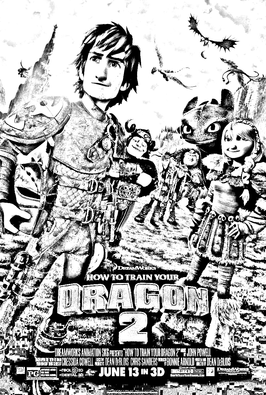 How to Train Your Dragon 2 coloring page to print and color