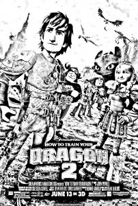 Coloring page how to train your dragon 2 free to color for kids