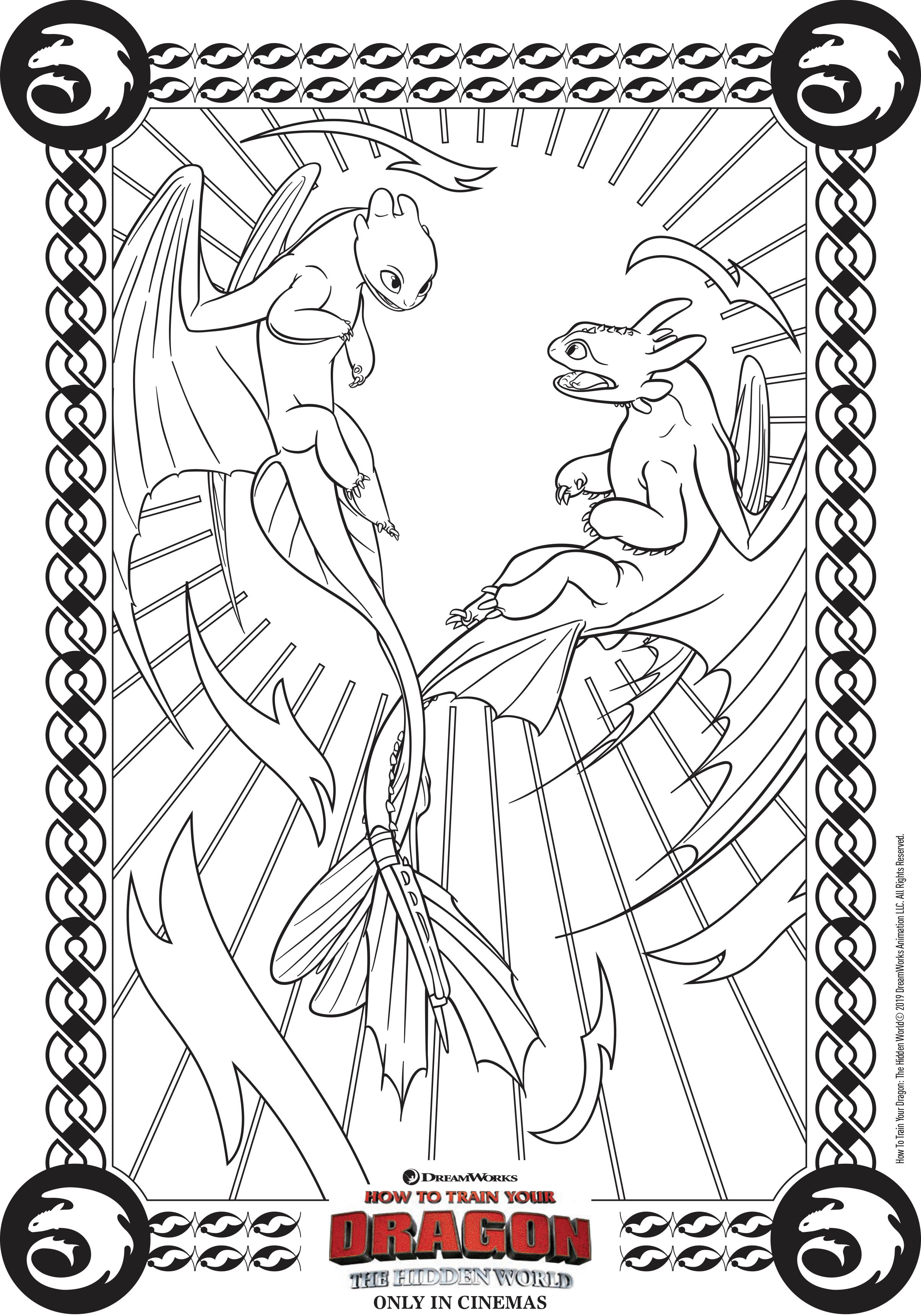 Funny How to Train Your Dragon 3 coloring page