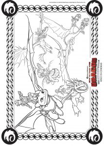 Coloring page how to train your dragon 3 to download for free