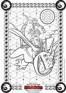 Coloring page how to train your dragon 3 to color for kids