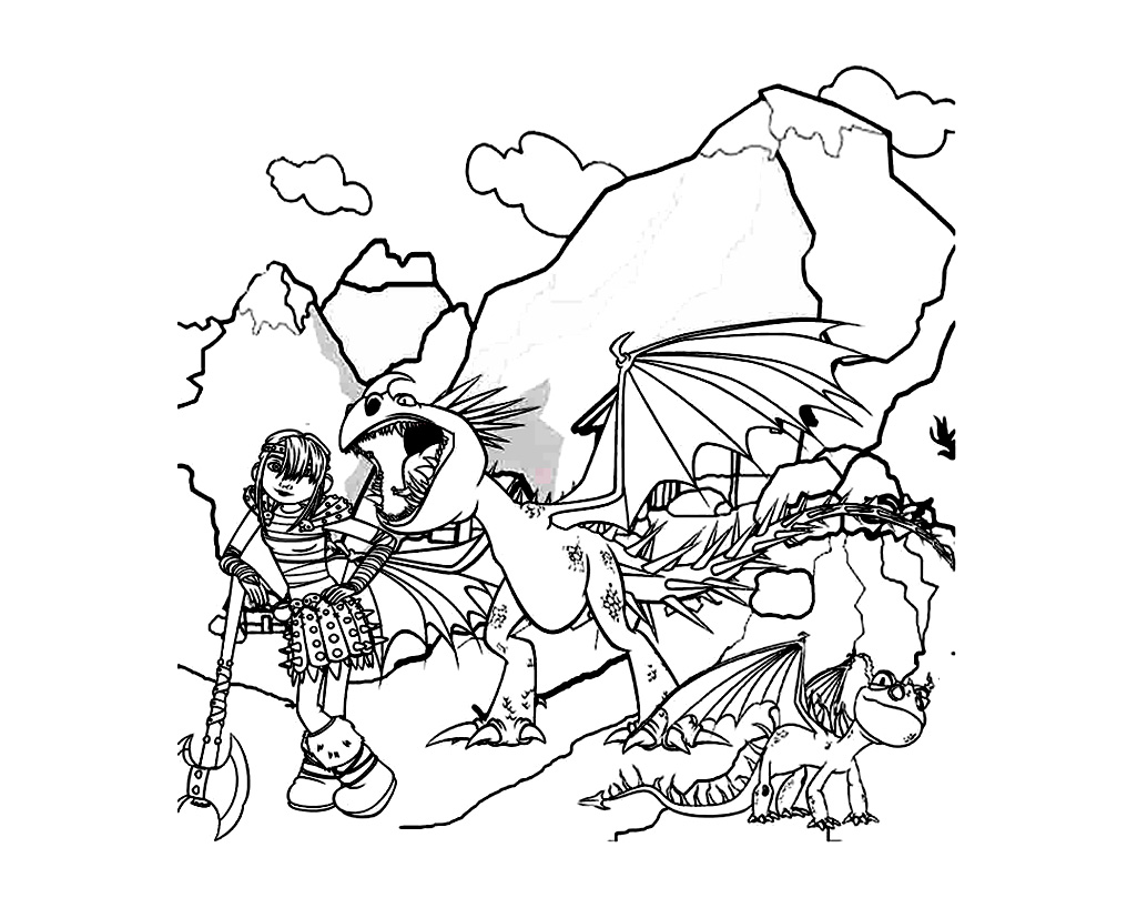 Free How to Train Your Dragon coloring page to download, for children