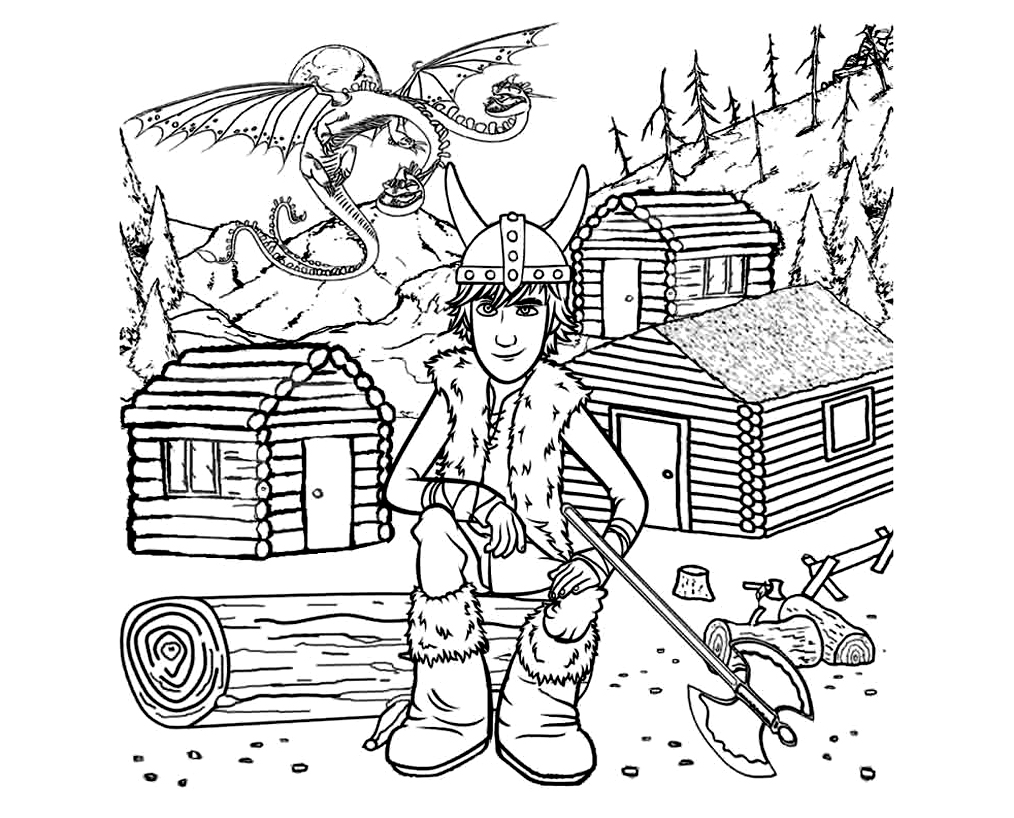 Free How to Train Your Dragon coloring page to download