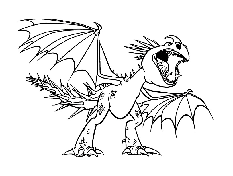 Free How to Train Your Dragon coloring page to print and color