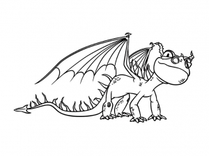 Coloring page how to train your dragon for kids