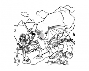 Coloring page how to train your dragon to print