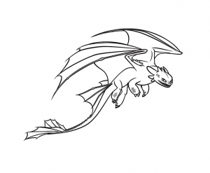 Coloring page how to train your dragon to color for kids