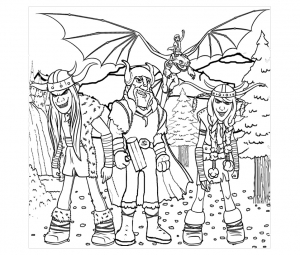 Coloring page how to train your dragon to color for children