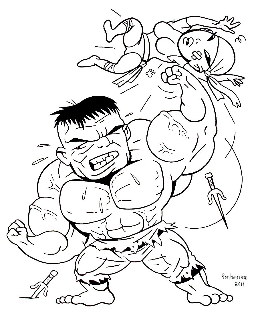 Beautiful Hulk coloring page
