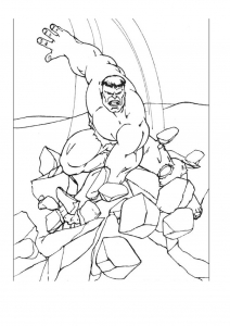 Coloring page hulk to download