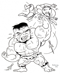 Coloring page hulk free to color for kids