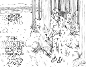 Coloring page hunger games free to color for children