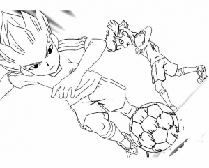 Coloring page inazuma eleven to print