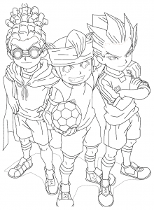 Coloring page inazuma eleven for kids