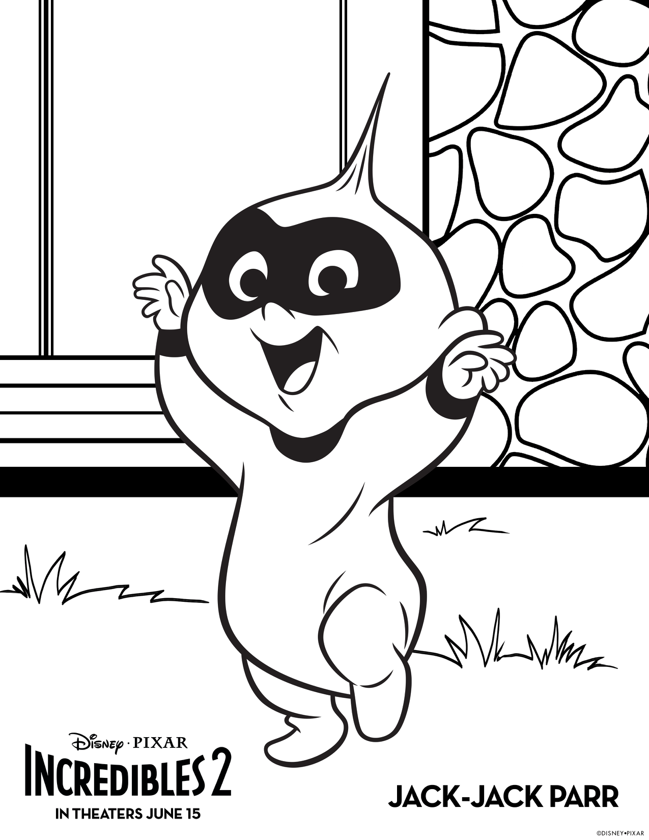 Incredibles 2 jack jack parr the incredibles 2 kids coloring pages