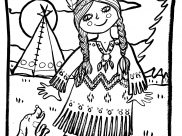 Indians Coloring Pages for Kids
