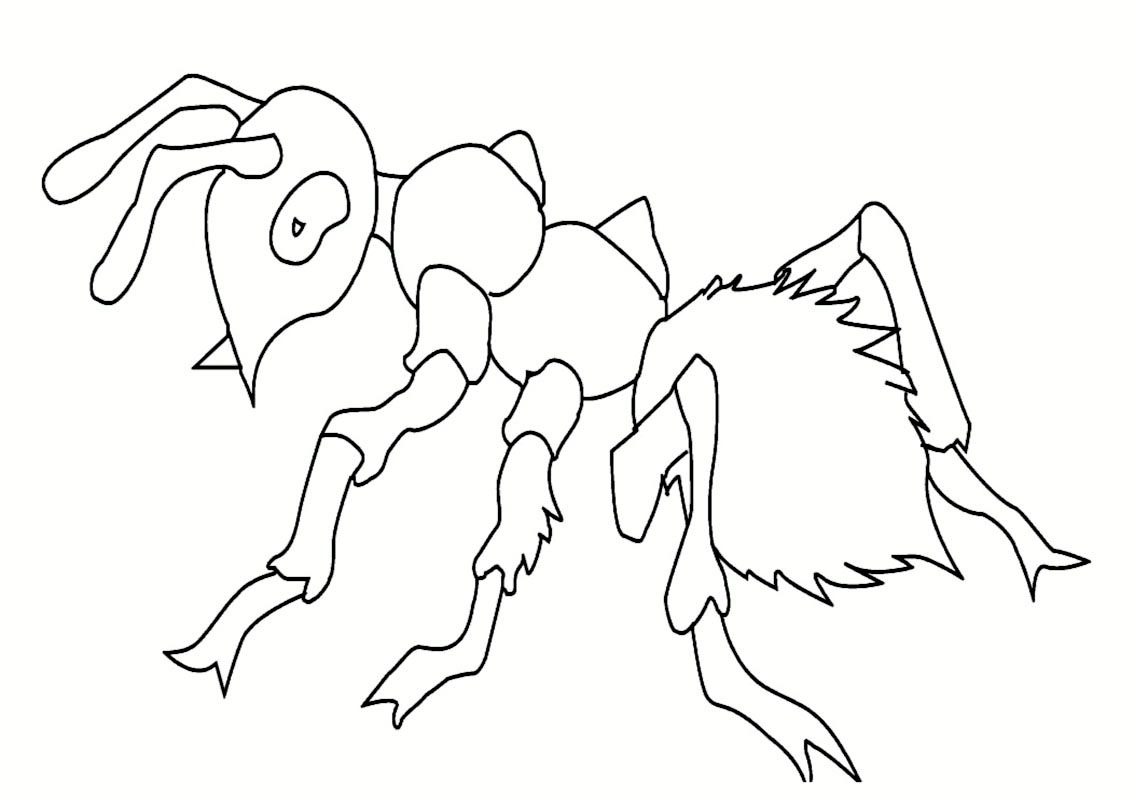 Simple Insects coloring page for kids