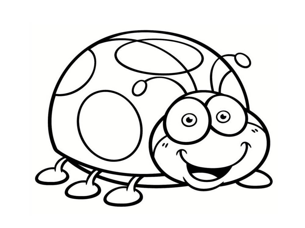 Simple Insects coloring page for children