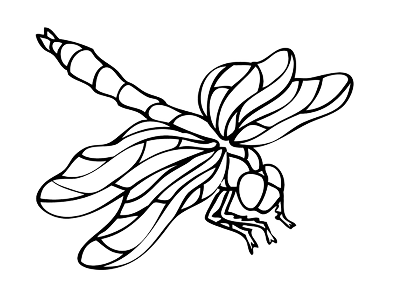 Simple free Insects coloring page to print and color