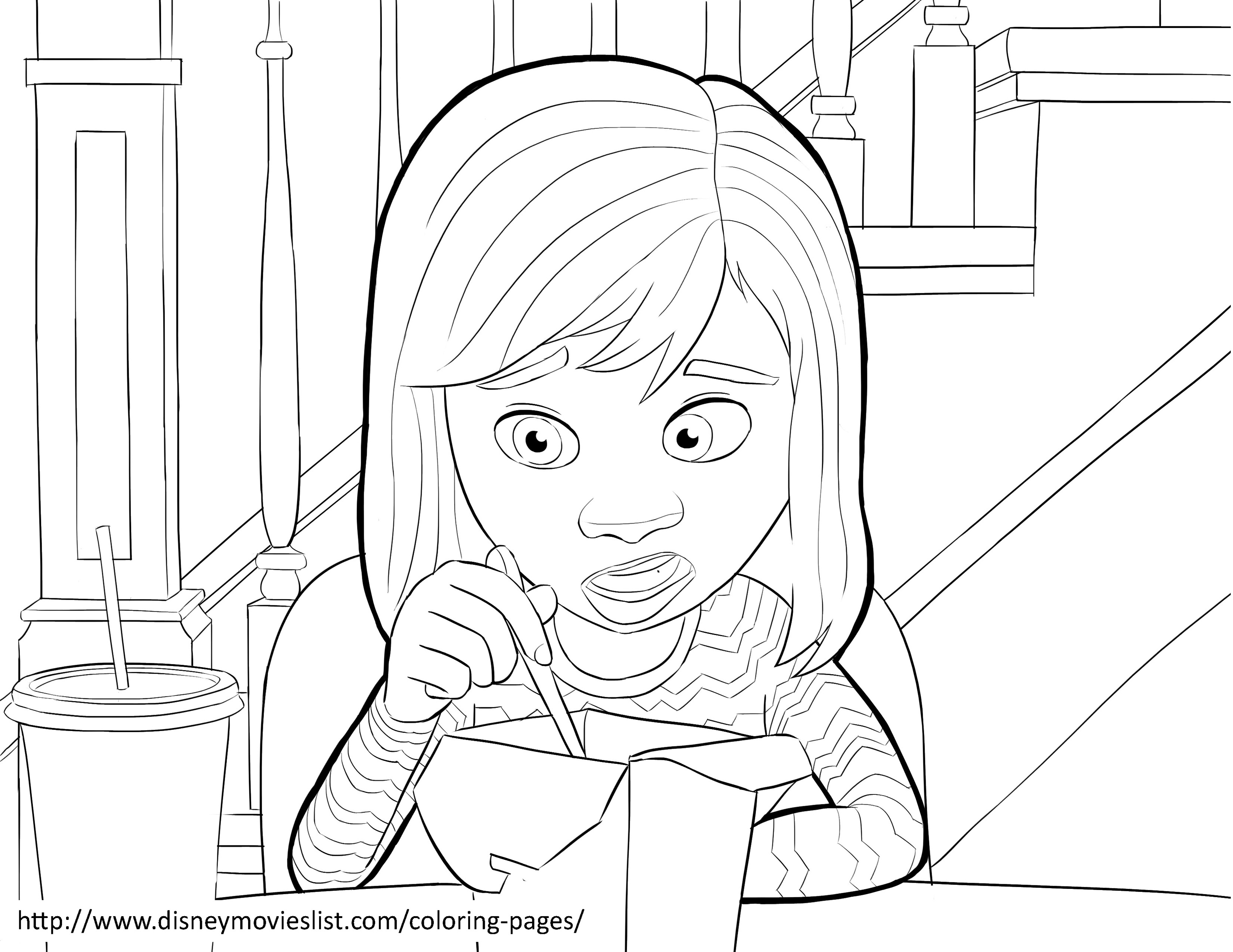 Inside Out Coloring Page To Download For Free